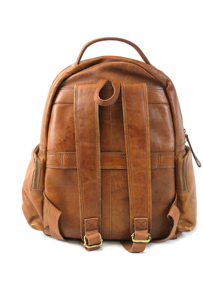 Brown Rawlings Large Leather Backpack - Image 2