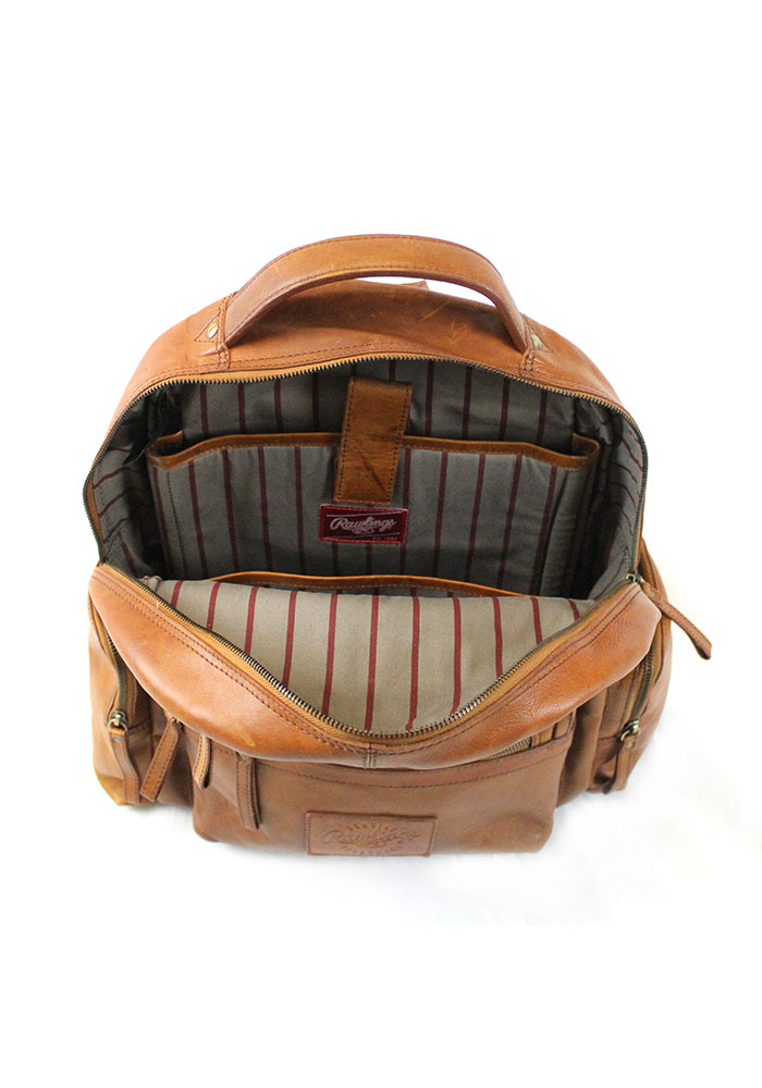Brown Rawlings Large Leather Backpack - Image 3