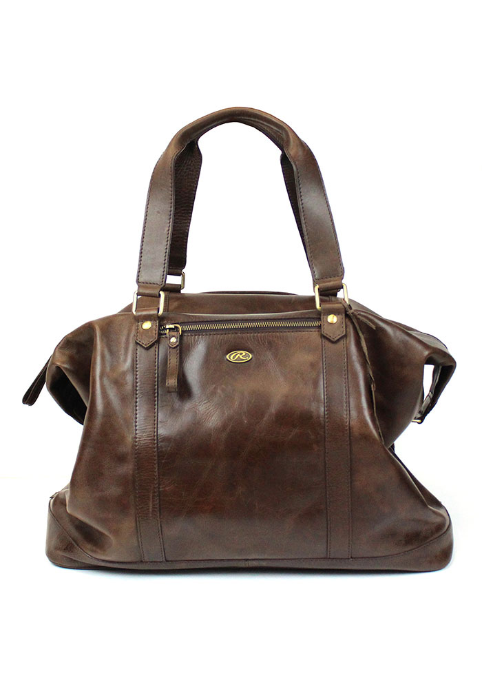 Brown Rawlings Leather Away Game Duffle Luggage - Image 1