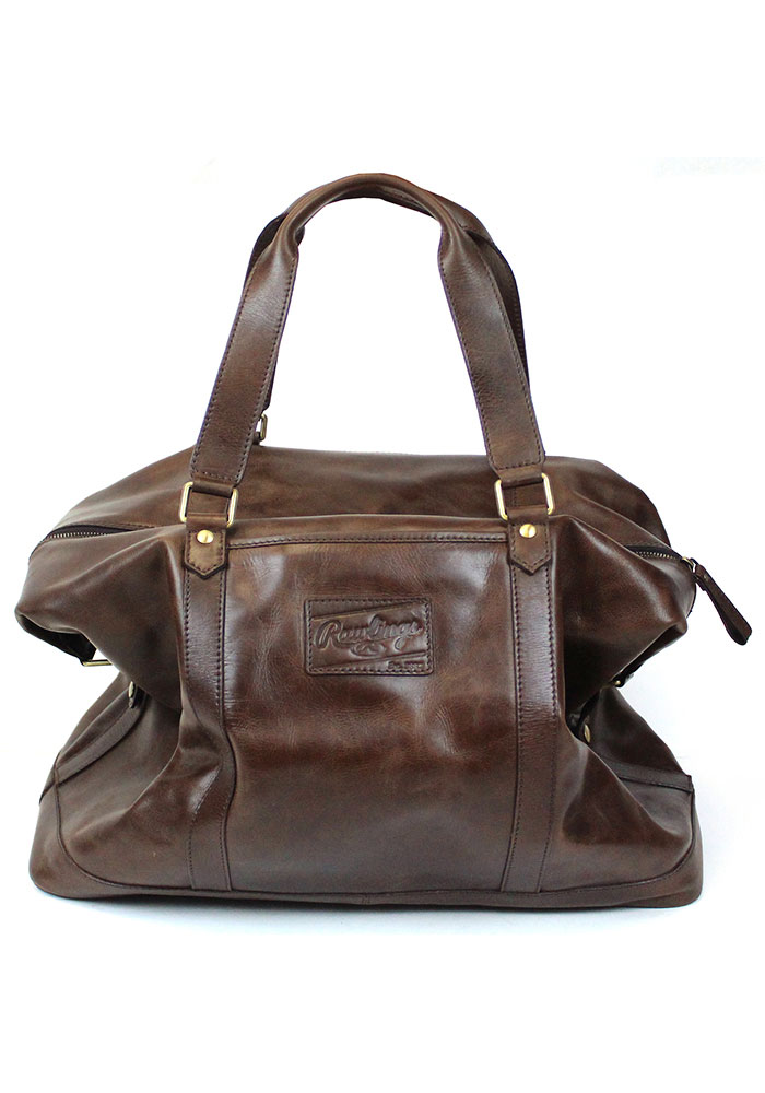 Brown Rawlings Leather Away Game Duffle Luggage - Image 2