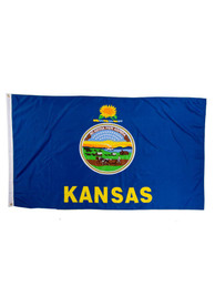 Kansas Blue Silk Screen Grommet Flag