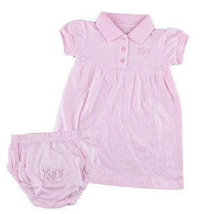 Kansas Jayhawks Baby Girls Pink Polo Dress