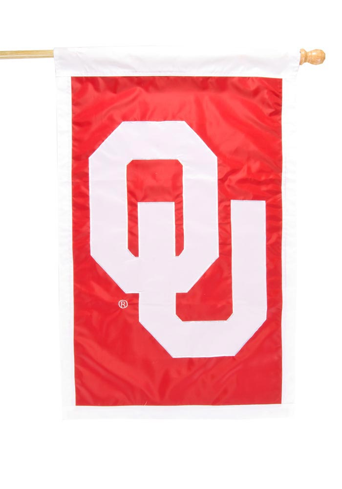 Oklahoma Sooners 28x44 Applique Sleeve Banner - Image 1