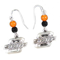 Oklahoma State Cowboys Womens Earrings - Silver