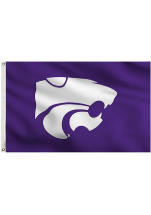 K-State Wildcats 3x5 Purple Grommet Applique Flag