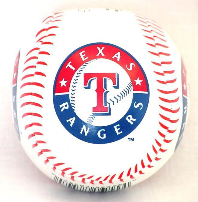 Texas Rangers Soft Vinyl Softee Ball - Image 1