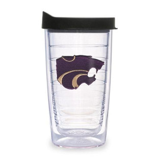 K-State Wildcats 16oz Lid Clear Tumbler