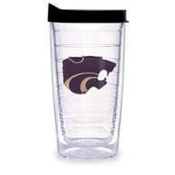 K-State Wildcats 24oz Lid Clear Tumbler