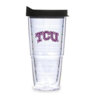 TCU Horned Frogs 24oz Clear Lid Tumbler