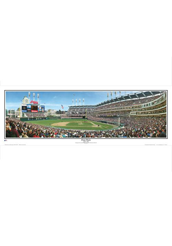 Cleveland Indians 13.5x39 Progressive Field First Pitch Unframed Poster - Image 1