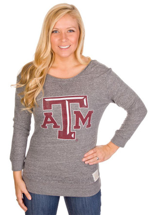 Original Retro Brand Texas A&M Aggies Womens Scoop Back Scoop Neck Tee