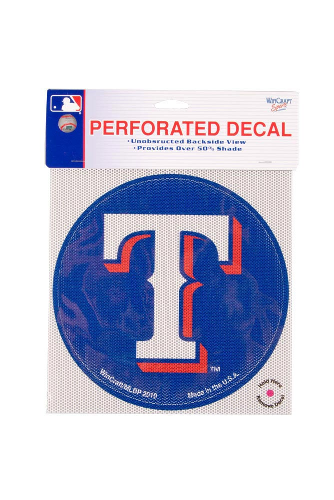 Texas Rangers 8` Round Blue Auto Decal - Blue - Image 1