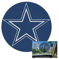 Dallas Cowboys 8 Round Perforated Auto Decal - Blue