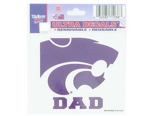 K-State Wildcats 3x4 Dad Decal