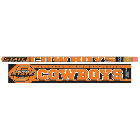 Oklahoma State Cowboys 6 Pack Pencil - Image 1