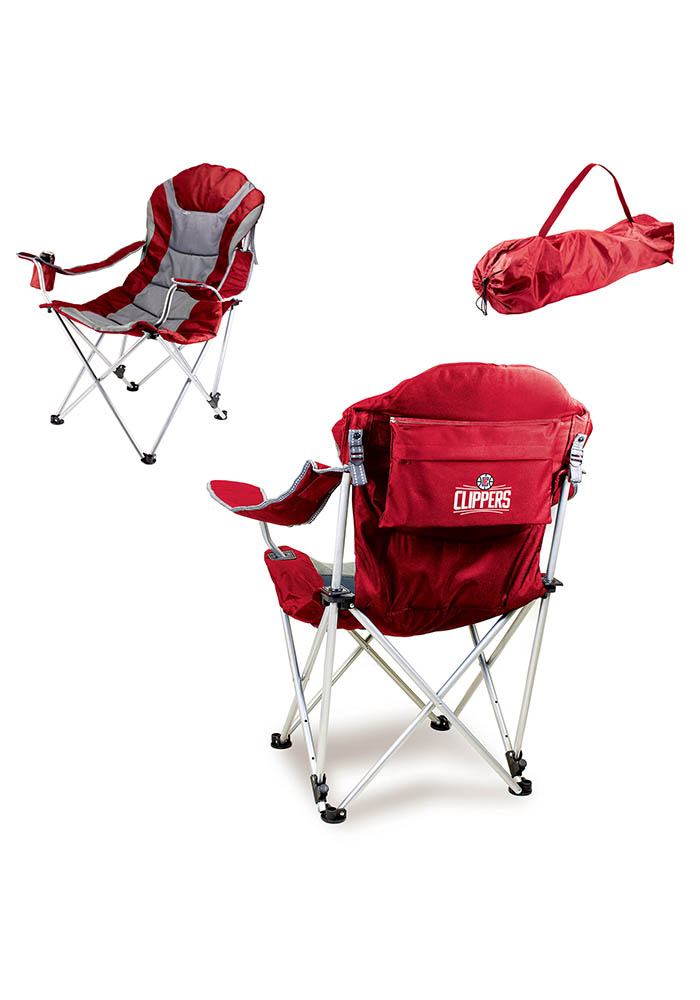Los Angeles Clippers Reclining Camp Canvas Chair - Image 1