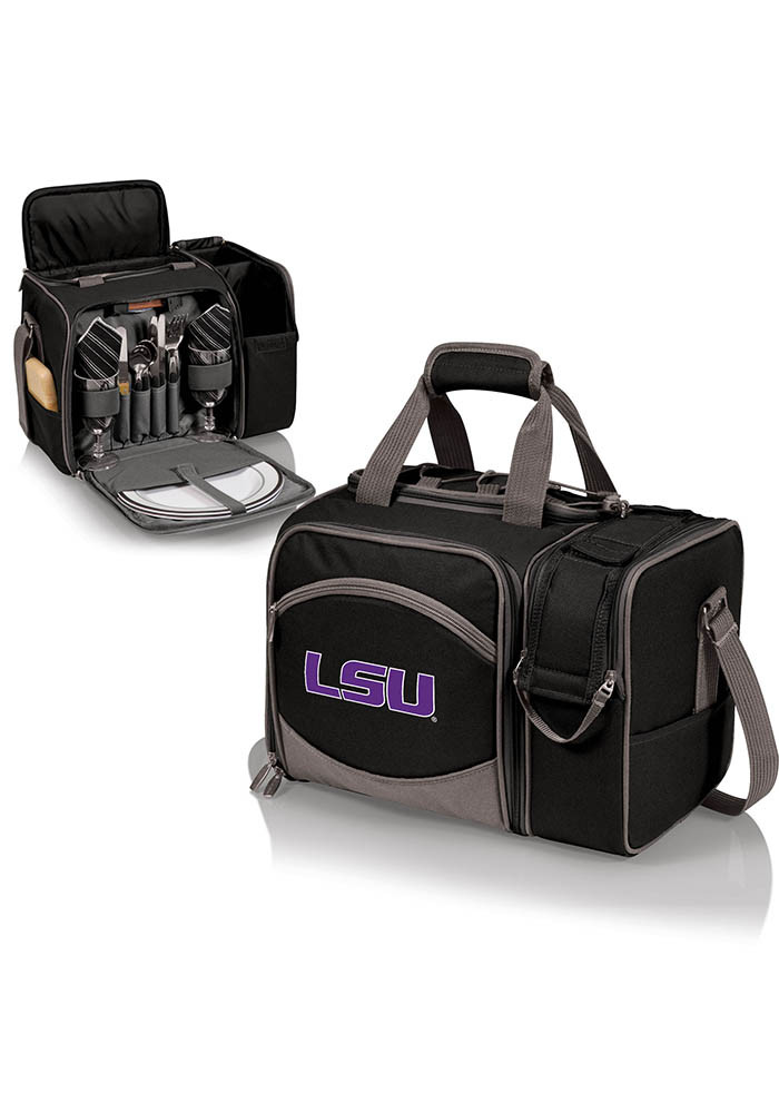 LSU Tigers Malibu Embroidered Picnic Pack Cooler - Image 1