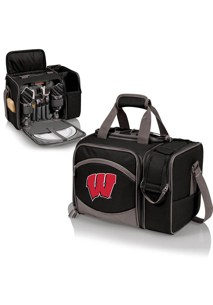 Wisconsin Badgers Malibu Embroidered Picnic Pack Cooler - Image 1