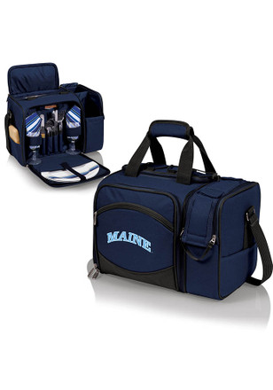 Maine Black Bears Malibu Embroidered Picnic Pack Cooler