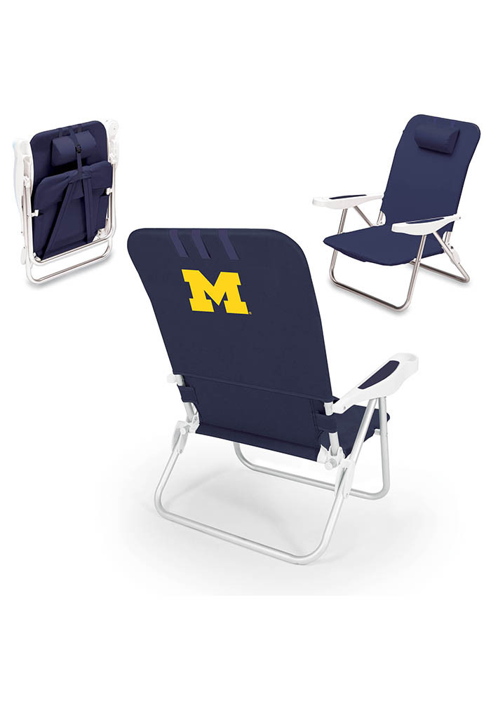 Michigan Wolverines Monaco Folding Chair - Image 1