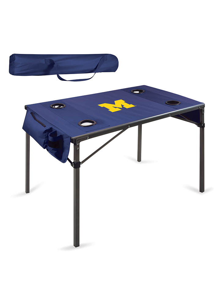 Michigan Wolverines Travel Table - Image 1