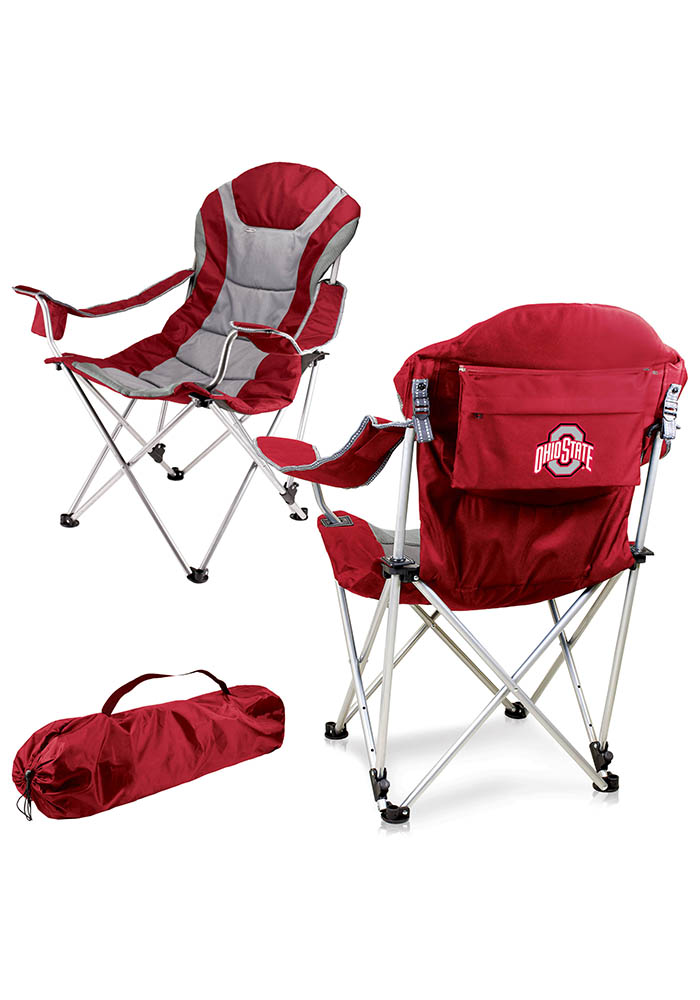 Ohio State Buckeyes Reclining Camp Canvas Chair - Image 1