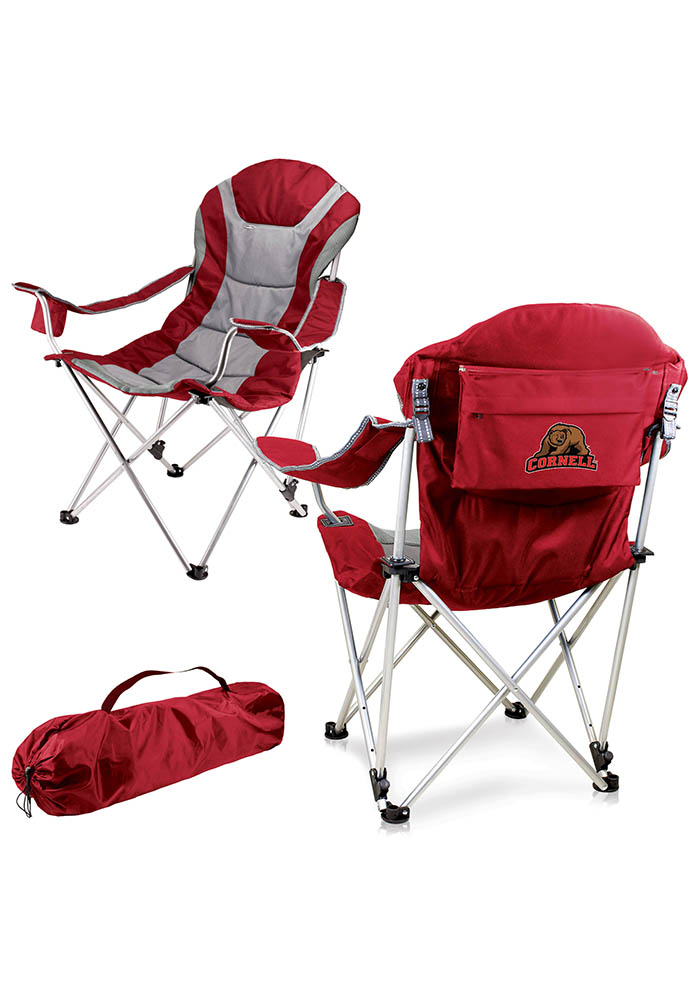Cornell Big Red Reclining Camp Canvas Chair - Image 1
