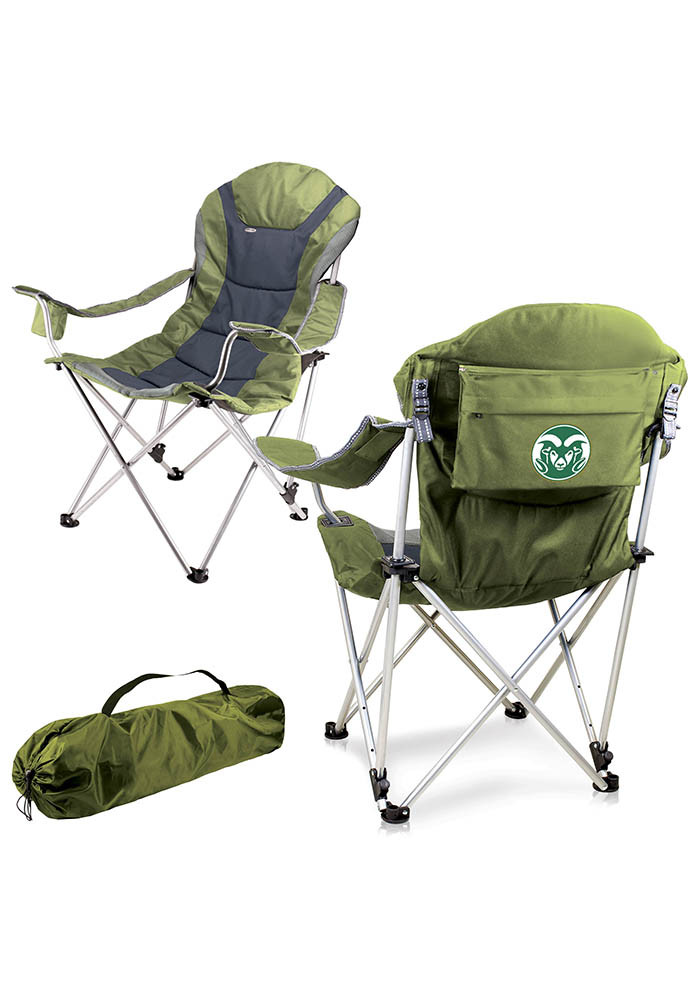Colorado State Rams Reclining Camp Canvas Chair - Image 1