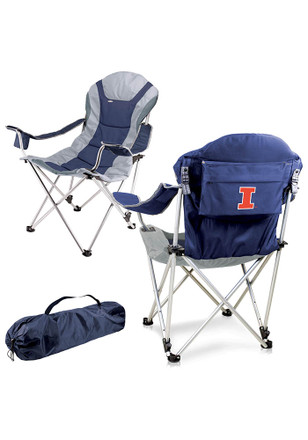 Illinois Fighting Illini Reclining Camp Canvas Chair
