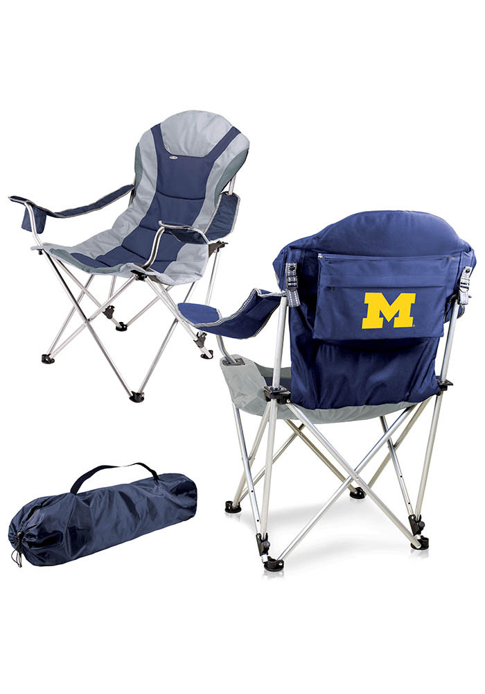 Michigan Wolverines Reclining Camp Canvas Chair - Image 1