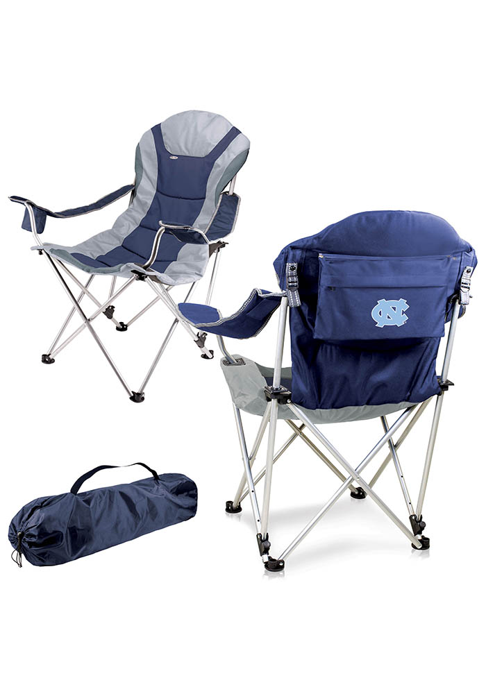 North Carolina Tar Heels Reclining Camp Canvas Chair - Image 1