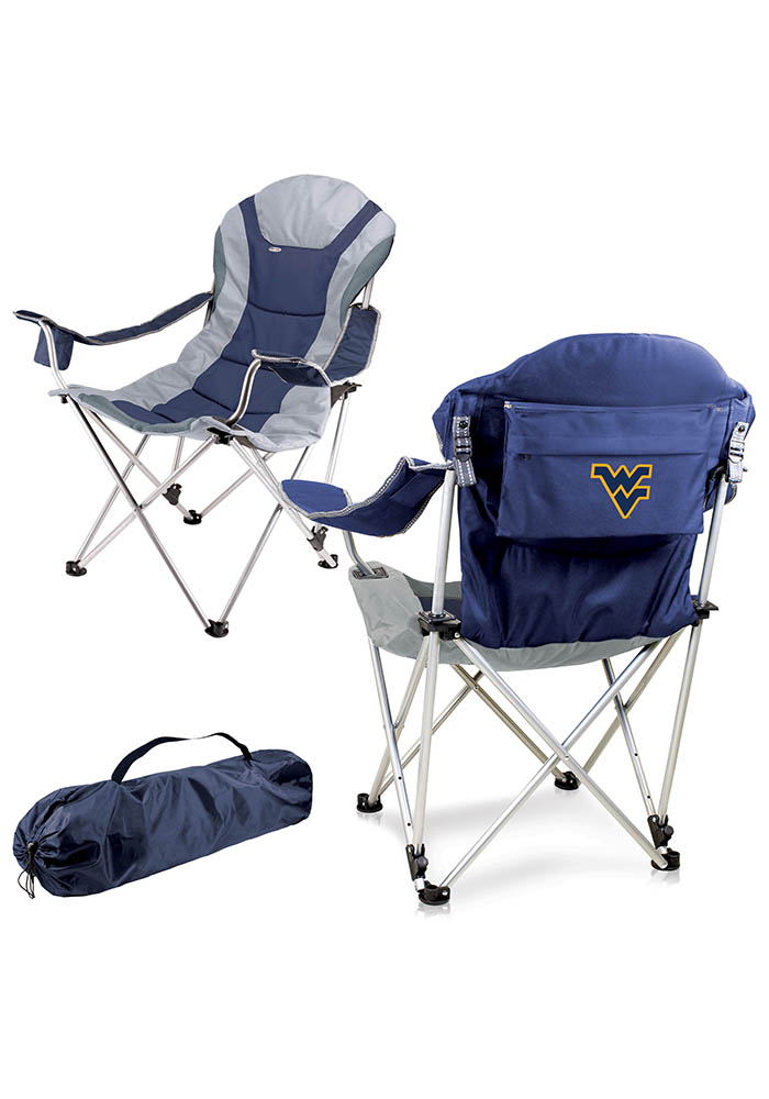 West Virginia Mountaineers Reclining Camp Canvas Chair - Image 1