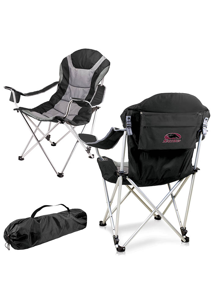 Southern Illinois Salukis Reclining Camp Canvas Chair - Image 1