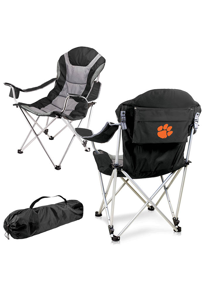 Clemson Tigers Reclining Camp Canvas Chair - Image 1