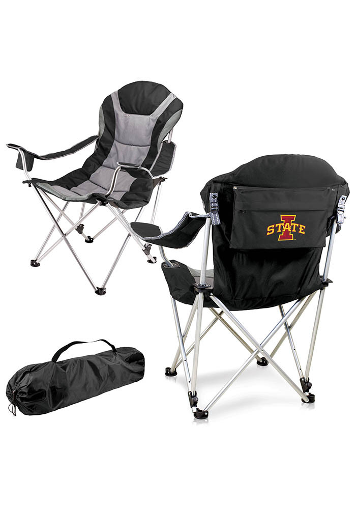 Iowa State Cyclones Reclining Camp Canvas Chair - Image 1