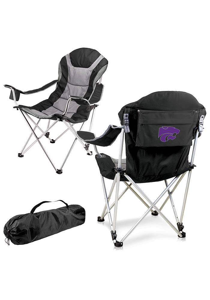 K-State Wildcats Reclining Camp Canvas Chair - Image 1