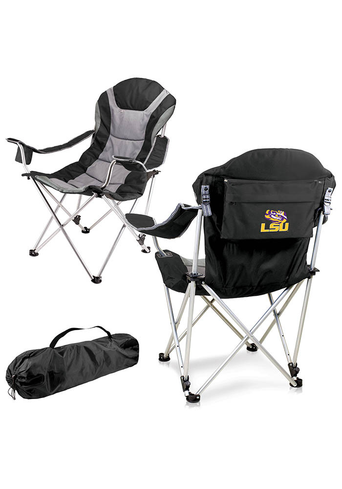 LSU Tigers Reclining Camp Canvas Chair - Image 1