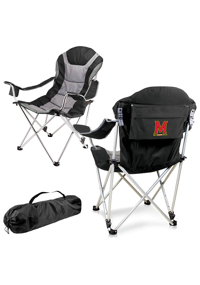 Maryland Terrapins Reclining Camp Canvas Chair - Image 1