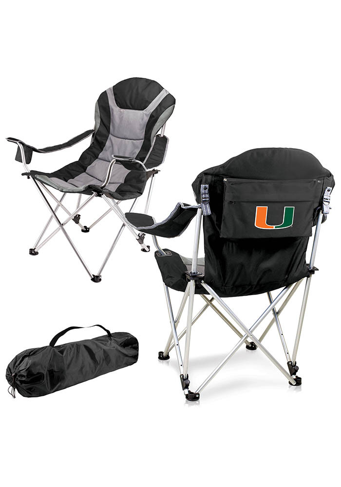 Miami Hurricanes Reclining Camp Canvas Chair - Image 1