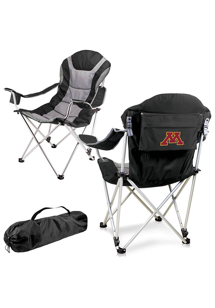 Minnesota Golden Gophers Reclining Camp Canvas Chair - Image 1