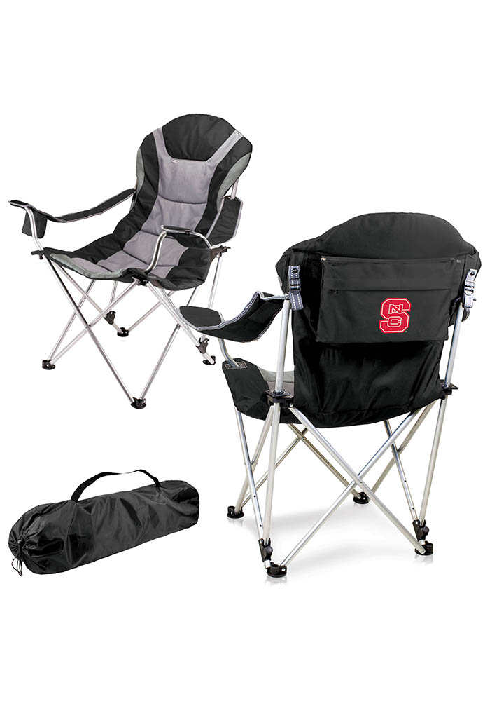 NC State Wolfpack Reclining Camp Canvas Chair - Image 1