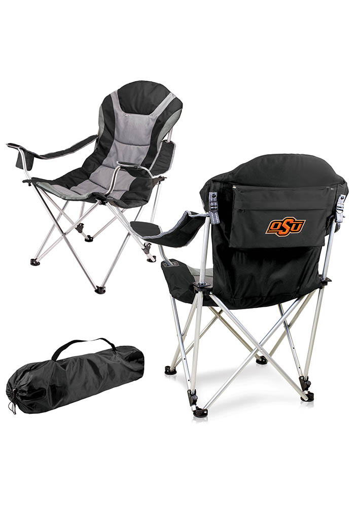 Oklahoma State Cowboys Reclining Camp Canvas Chair - Image 1