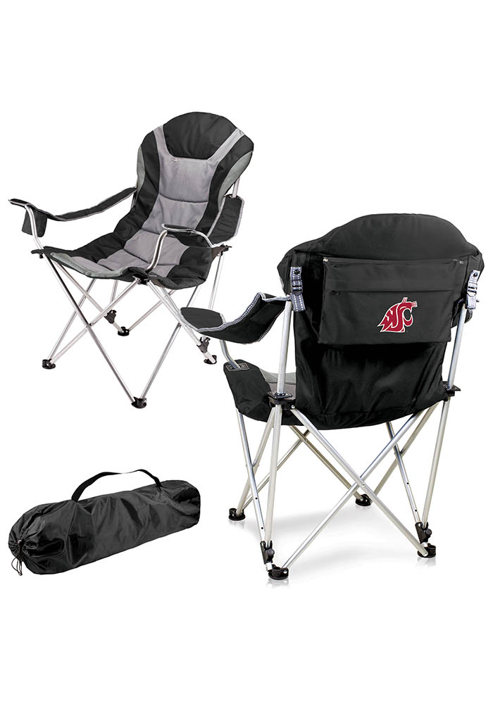 Washington State Cougars Reclining Camp Canvas Chair - Image 1