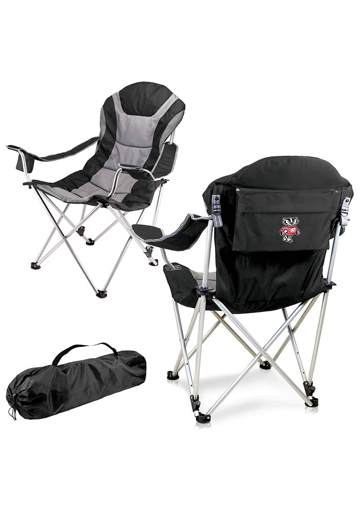 Wisconsin Badgers Reclining Camp Canvas Chair - Image 1