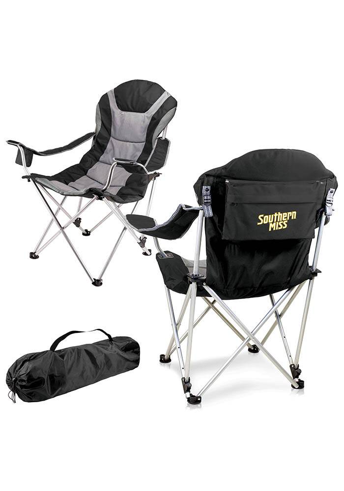 Southern Mississippi Reclining Camp Canvas Chair - Image 1