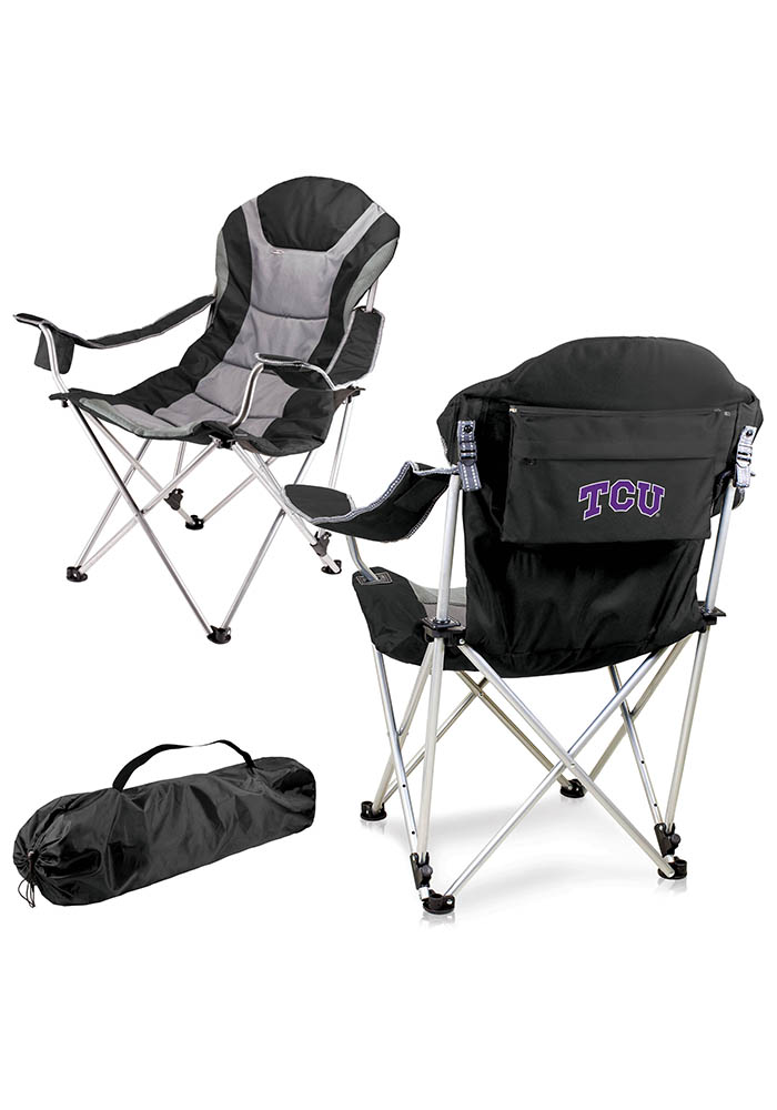 TCU Horned Frogs Reclining Camp Canvas Chair - Image 1