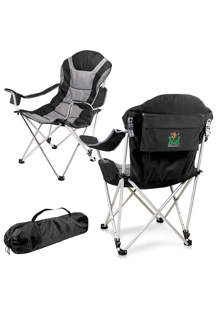 Marshall Thundering Herd Reclining Camp Canvas Chair - Image 1