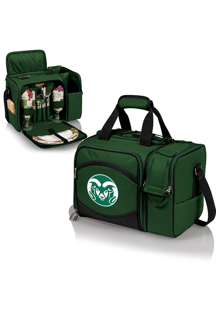 Colorado State Rams Malibu Embroidered Picnic Pack Cooler - Image 1