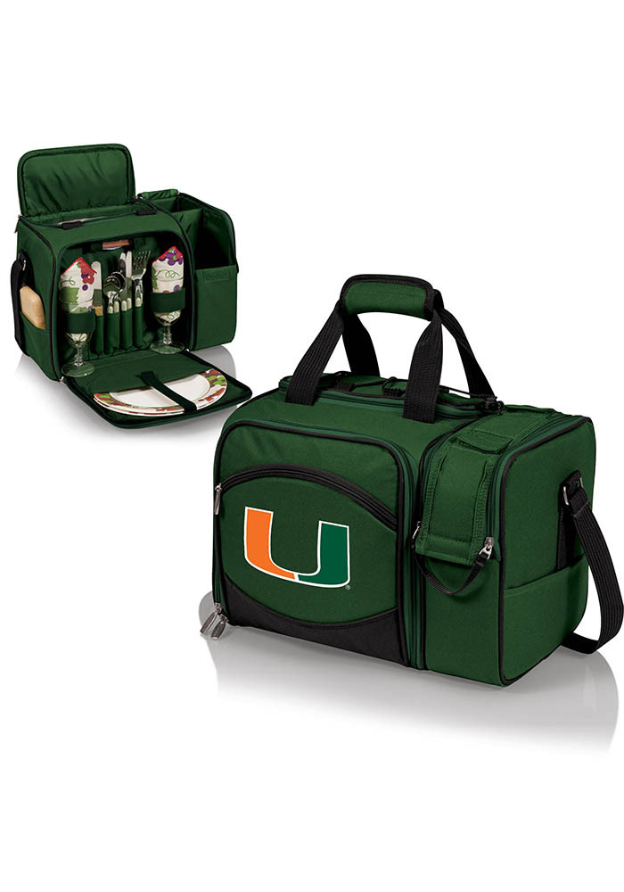 Miami Hurricanes Malibu Embroidered Picnic Pack Cooler - Image 1