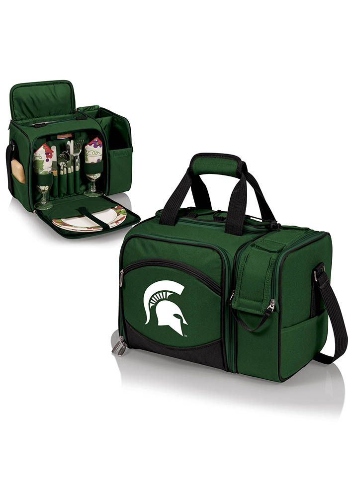 Michigan State Spartans Malibu Embroidered Picnic Pack Cooler - Image 1